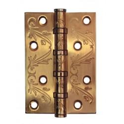 100X70X2.5 4BB FLO SATIN GOLD Петля универсальная с рисунком, цвет золото