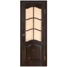 Дверь 7-ДО с рамкой, темный лак